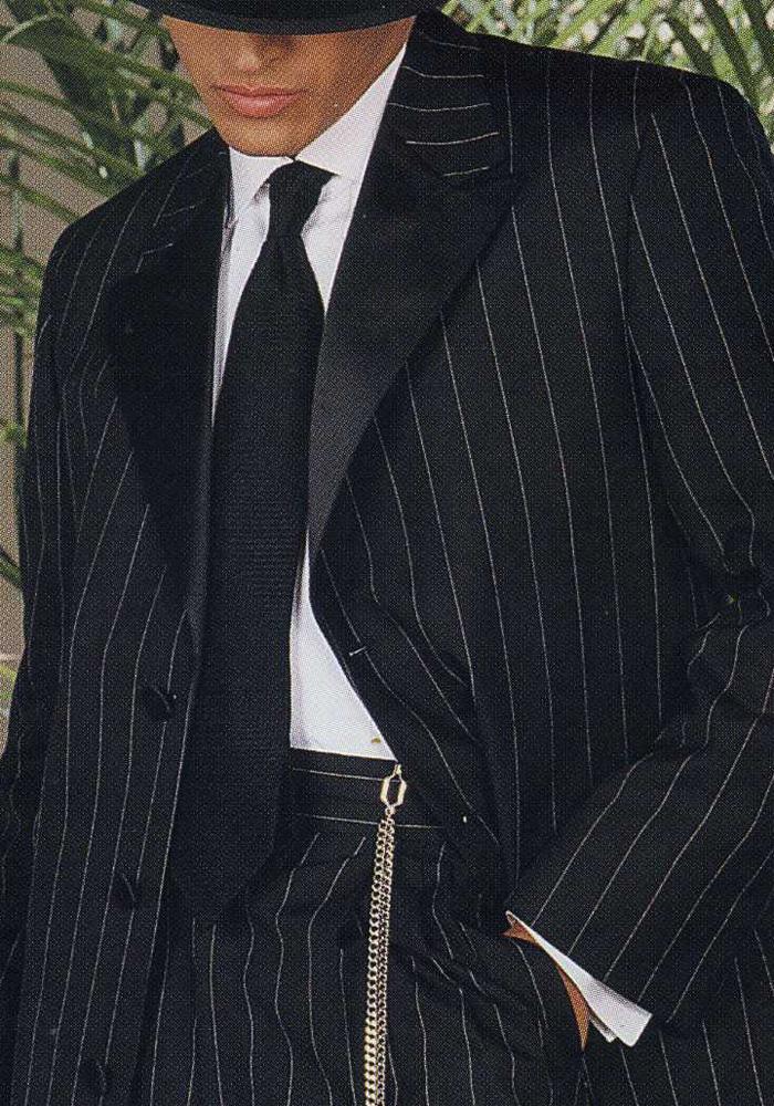 Black 'Stripe Zoot' Tuxedo