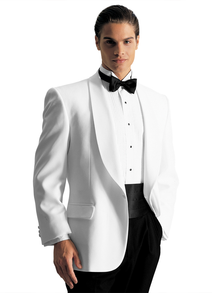 White 'Gerard' Dinner Jacket by After Six