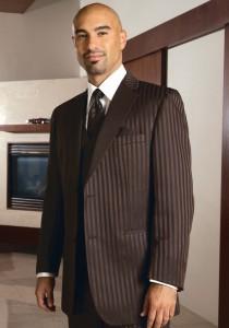 Fubu Brown Stripe Tuxedo