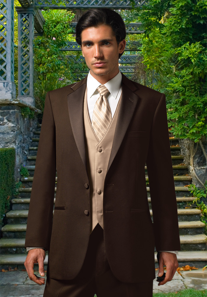 Chocolate 'Premier' Tuxedo by Jean Yves