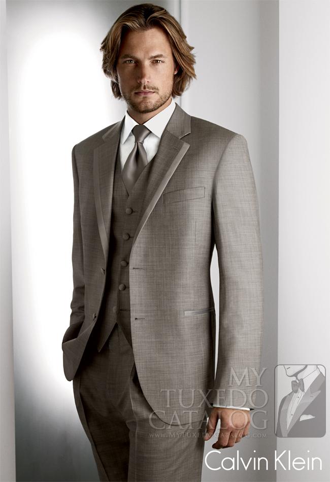 Grey 'Legend' Tuxedo by Calvin Klein: #1