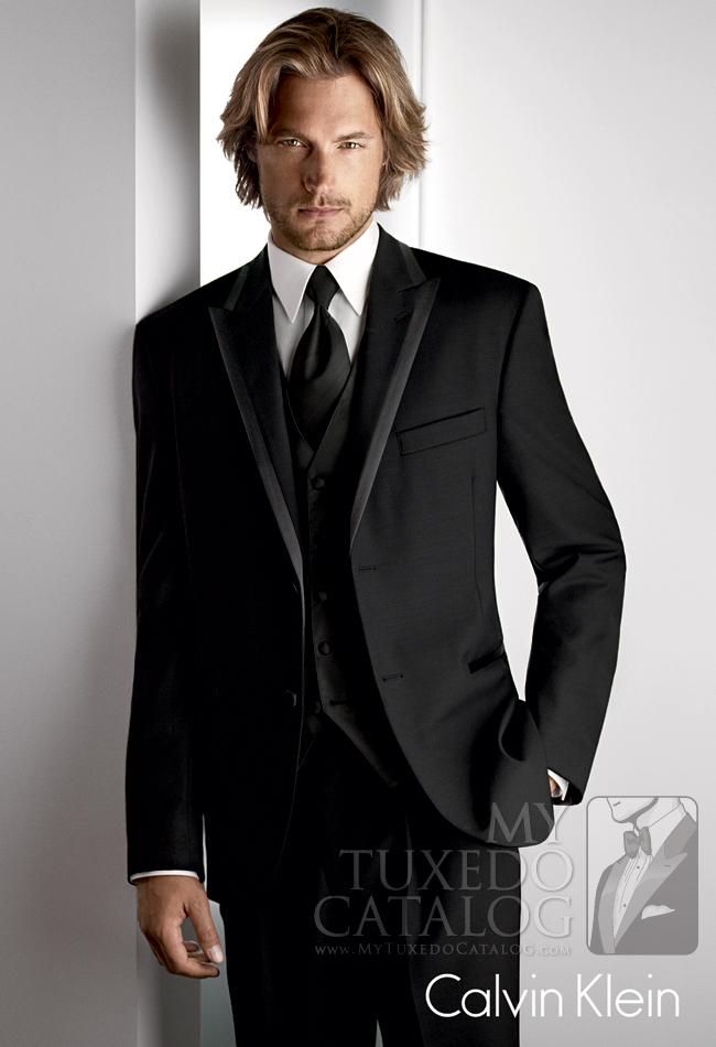 Black 'Arden' Tuxedo by Calvin Klein: #8
