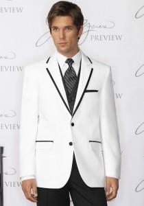 Jean Yves White 'Savoy' Tuxedo