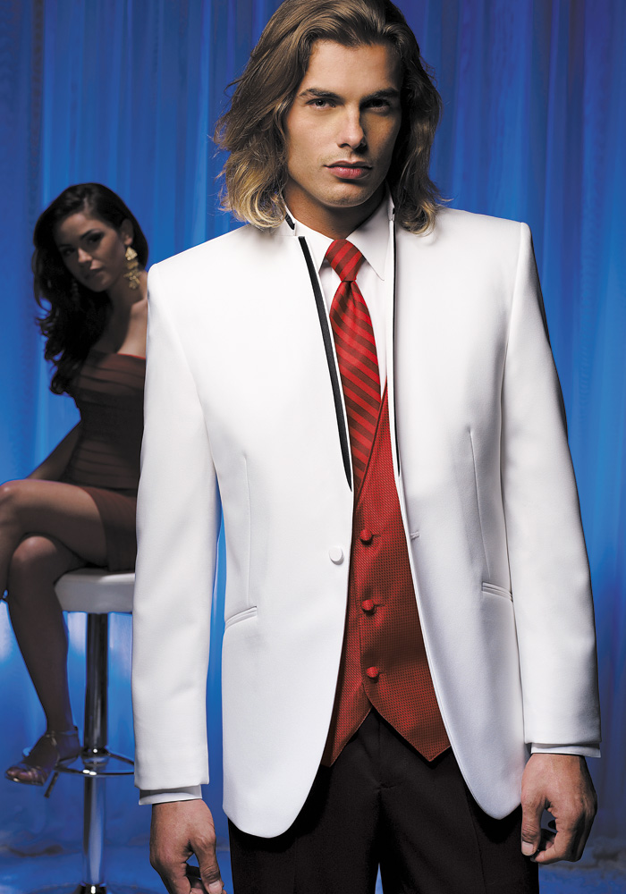 White 'Illusion' Tuxedo by Jean Yves