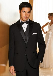 After Six Black 'Rhodes' Tuxedo