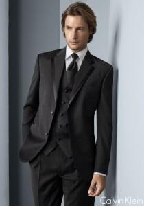 Calvin Klein Black 'Concord' Tuxedo