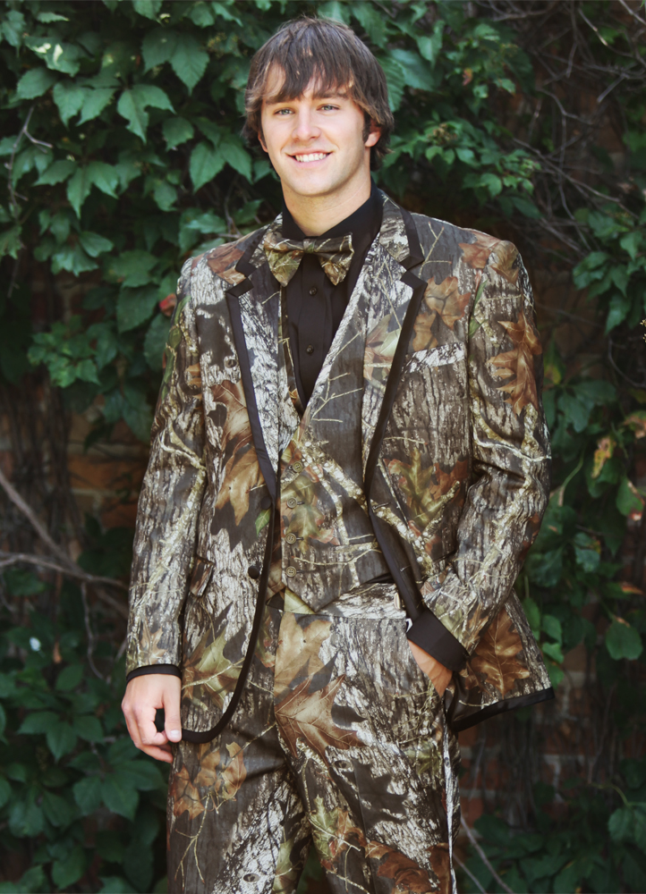 Camouflage 'Alpine' Tuxedo by Bright Colored Tuxedos