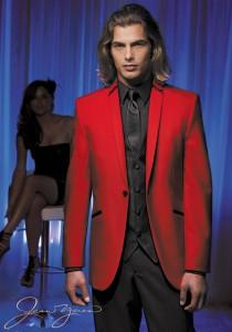 Jean Yves Red 'Illusion' Tuxedo