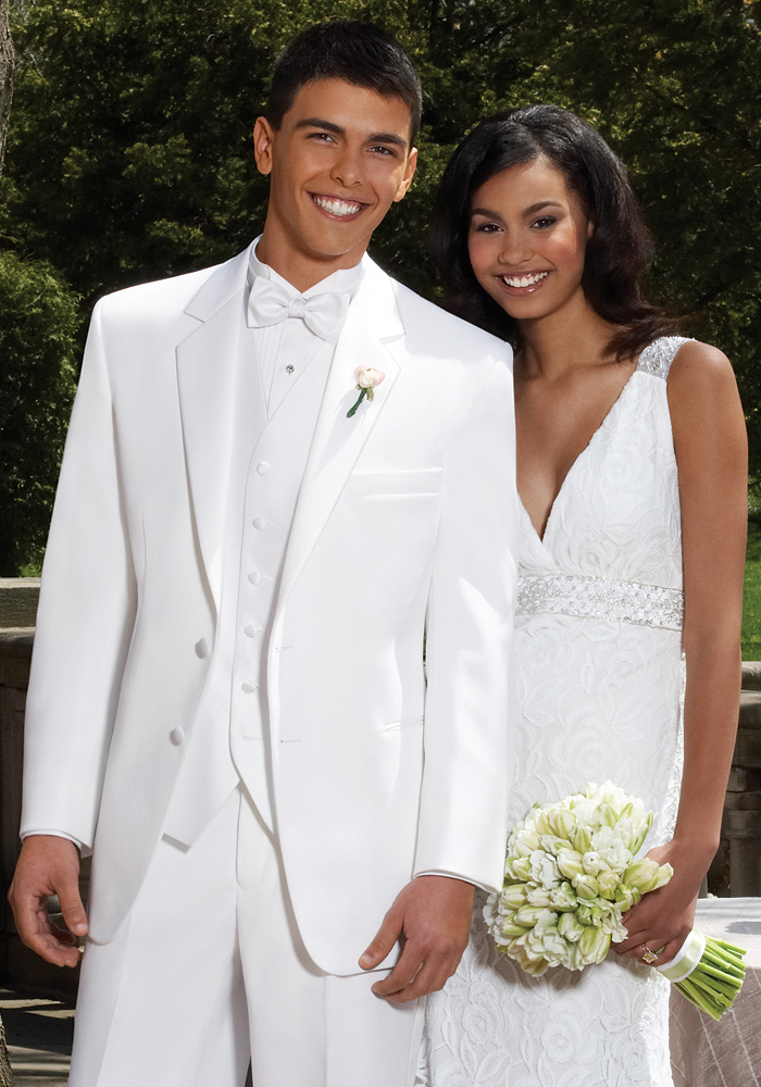 White 'Troy' Tuxedo