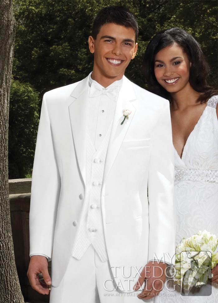 White \'Troy\' Tuxedo | Tuxedos & Suits | MyTuxedoCatalog.com