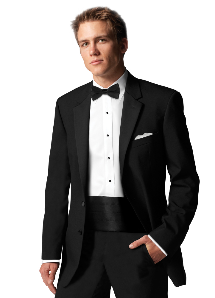 Nope.  The notch lapel and 2 button front keep this tuxedo from being Black Tie appropriate.