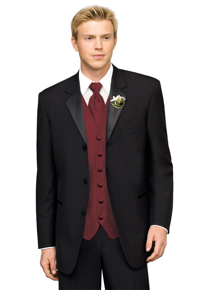 After Six Black 'Chaplin III' Tuxedo