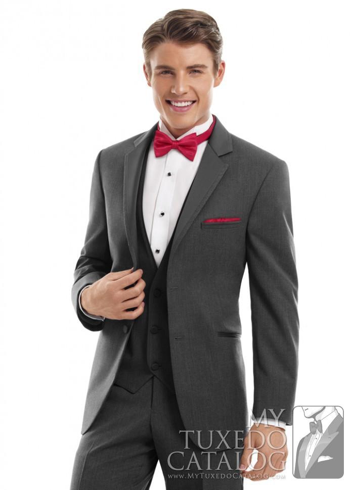 steel grey 'twilight' tuxedo  tuxedos  suits