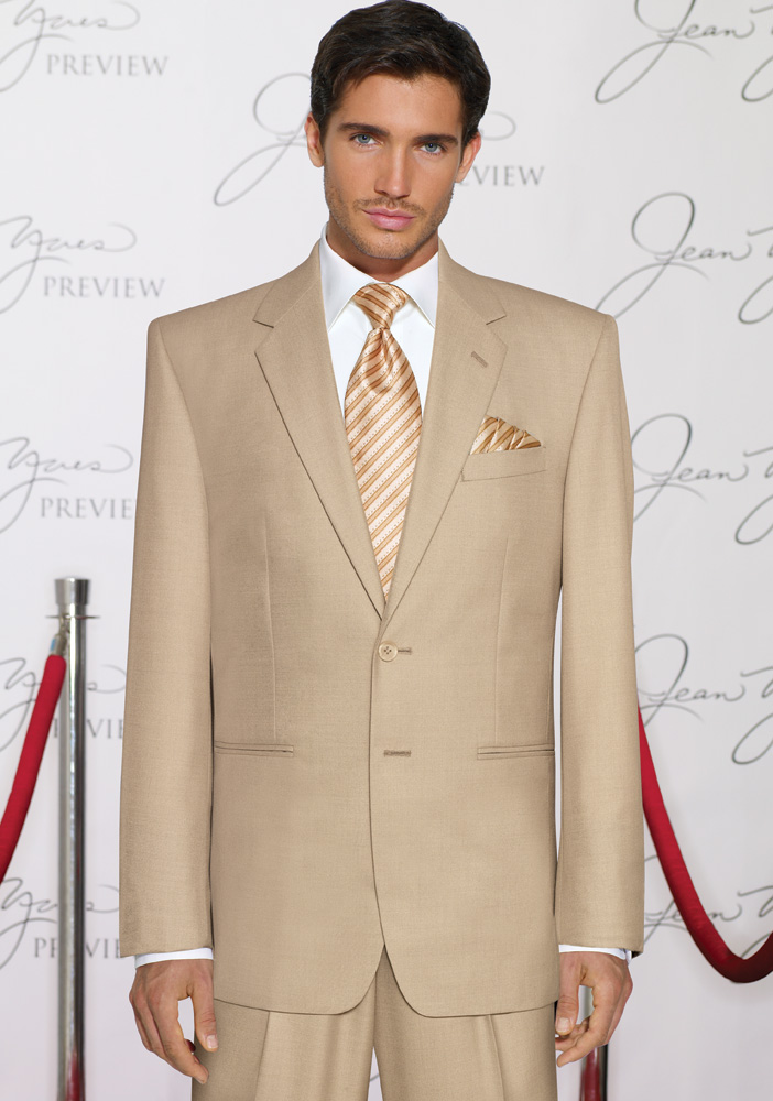 Tan 'Rapture' Destination Suit by Jean Yves
