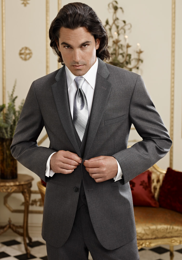 Steel Grey 'Twilight' Suit by Jean Yves