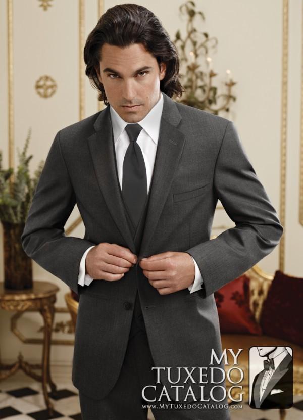 Steel Grey 'Twilight' Suit by Jean Yves
