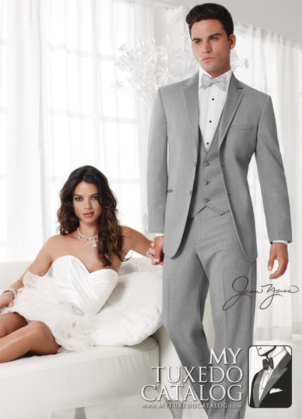 6.) Jean Yves Heather Grey 'Twilight' Tuxedo