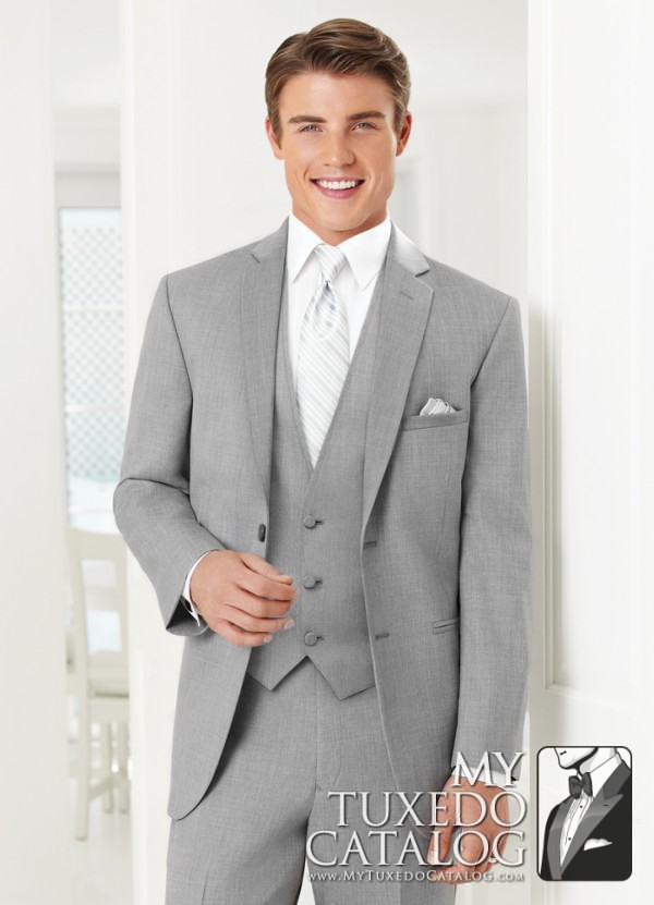 Heather Grey 'Twilight' Suit by Jean Yves