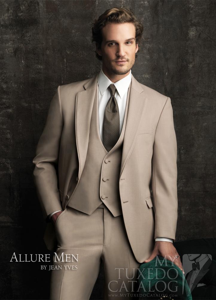 Tan 'Allure Men' Tuxedo by Jean Yves