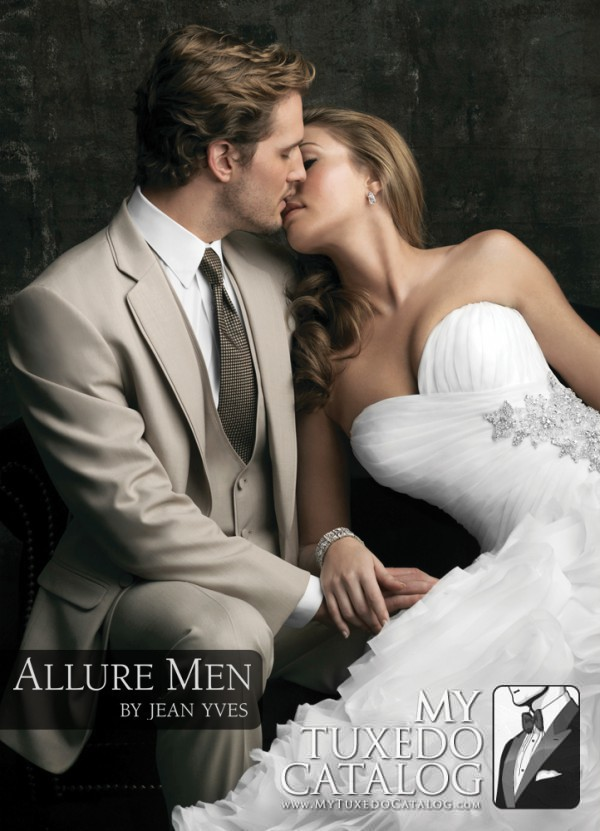 3.) Tan 'Bartlett' Tuxedo by Allure Men