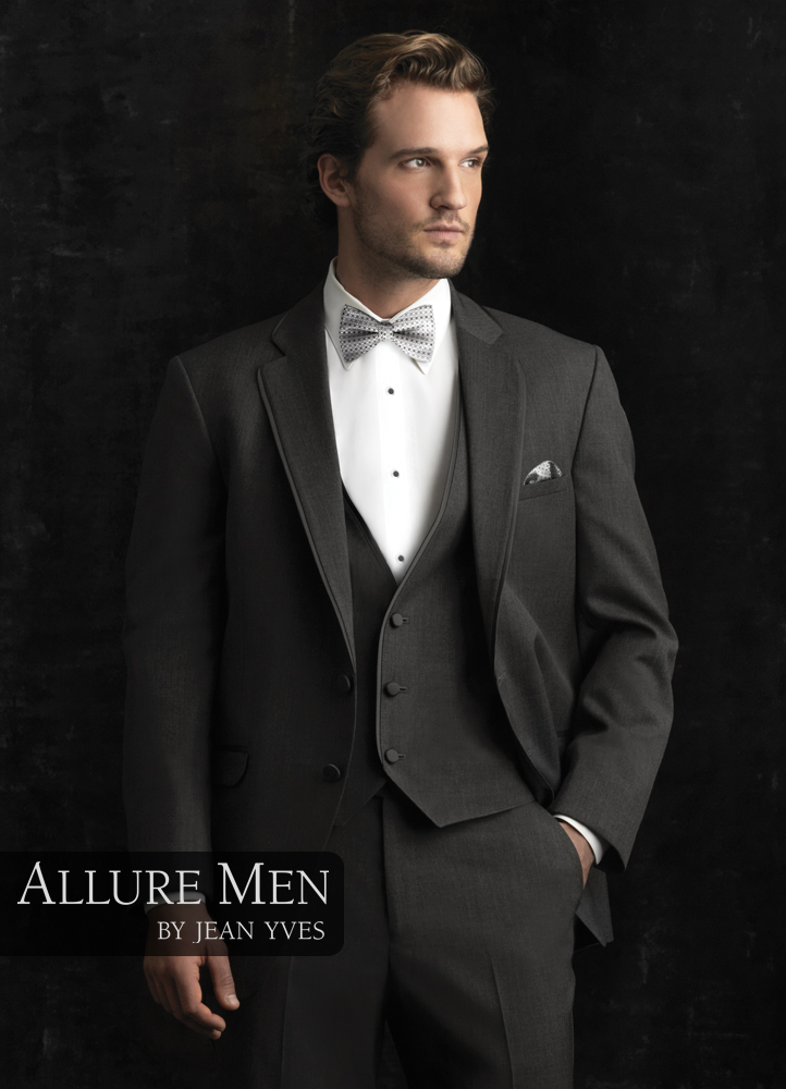 8.) Allure Men Steel Grey 'Bartlett' Tuxedo