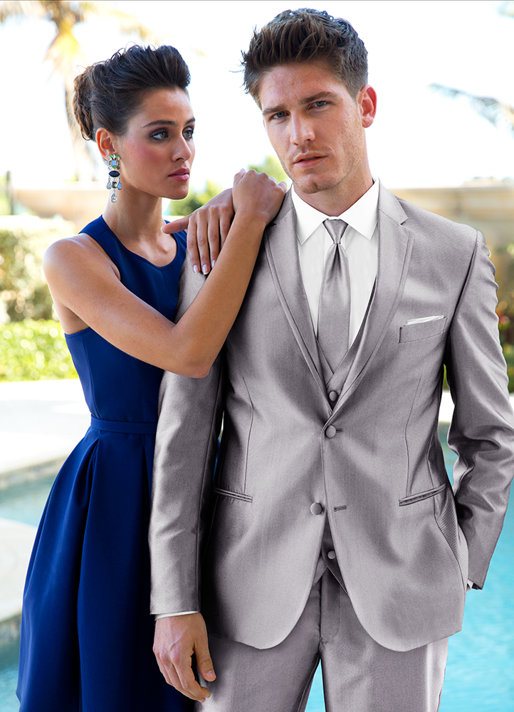 Silver 'Swagger' Tuxedo by FLOW Formals