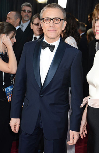 Christophe Waltz at the 2013 Oscars - Runner up for Best Midnight Blue Tuxedo