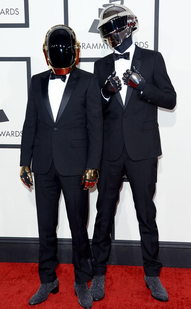 Daft Punk in Black Tie at the 2014 Grammy's!
