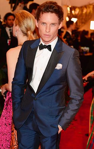 Eddie Redmayne in Blue Tuxedo at the 2013 MET Gala!
