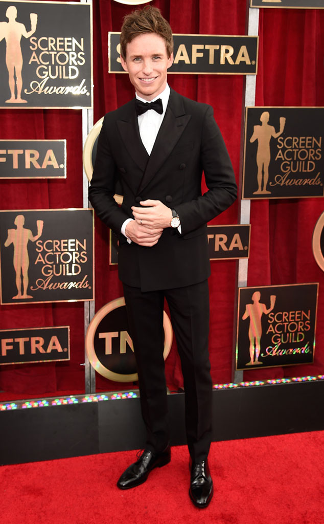 Eddie Redmayne in Black Tie at the 2015 SAG Awards!