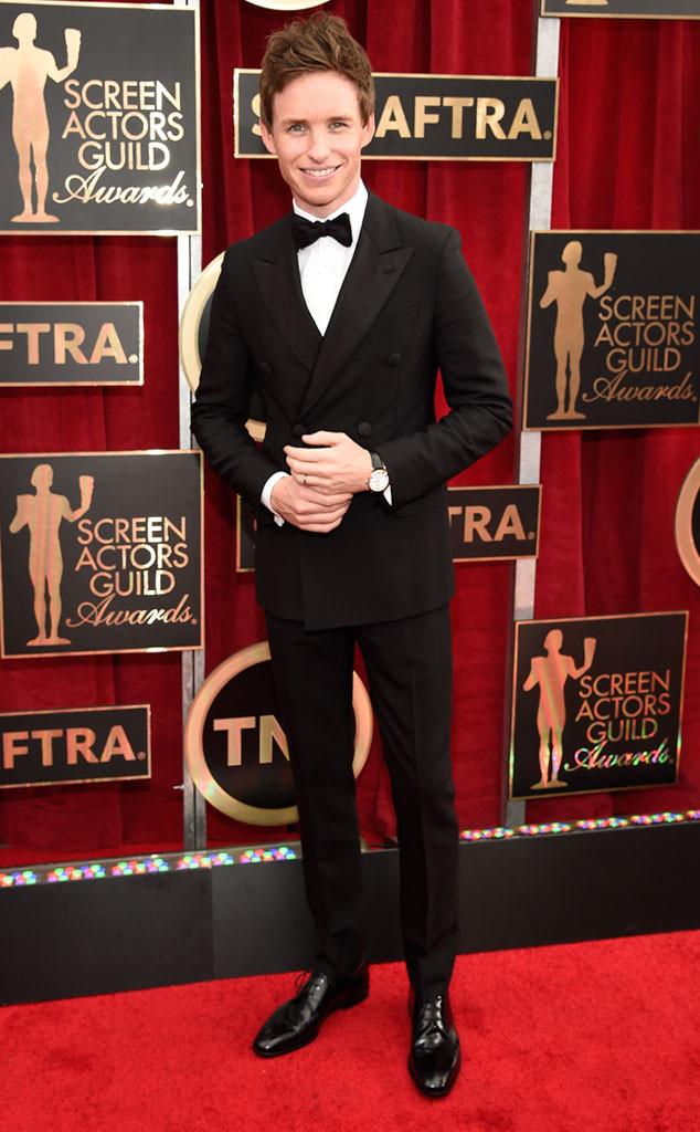 Eddie Redmayne in Black Tie at the 2015 SAG Awards!