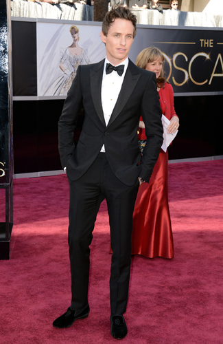 Eddie Redmayne at the 2013 Oscars - Winner: Best Pant Hemming and Footwear