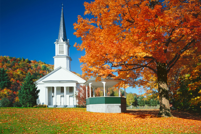 Beautiful Autumn Church