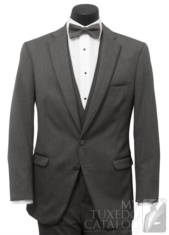 Steel Grey 'Allure Men' Tuxedo - Front View