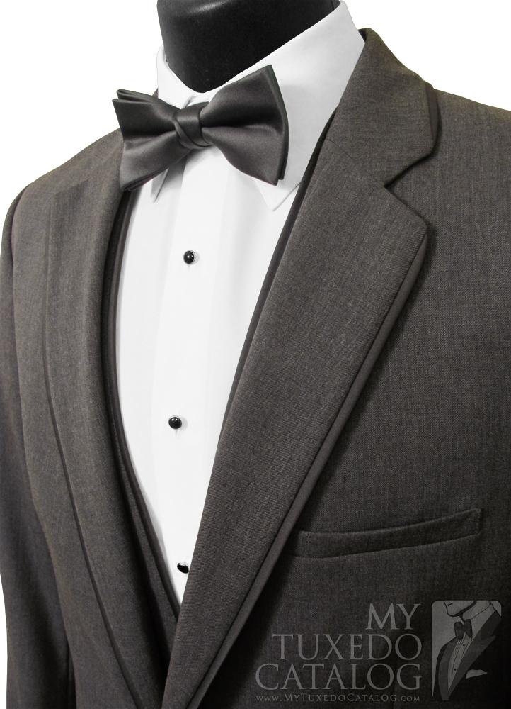 Steel Grey 'Allure Men' Tuxedo - Satin Trim Notch Lapels