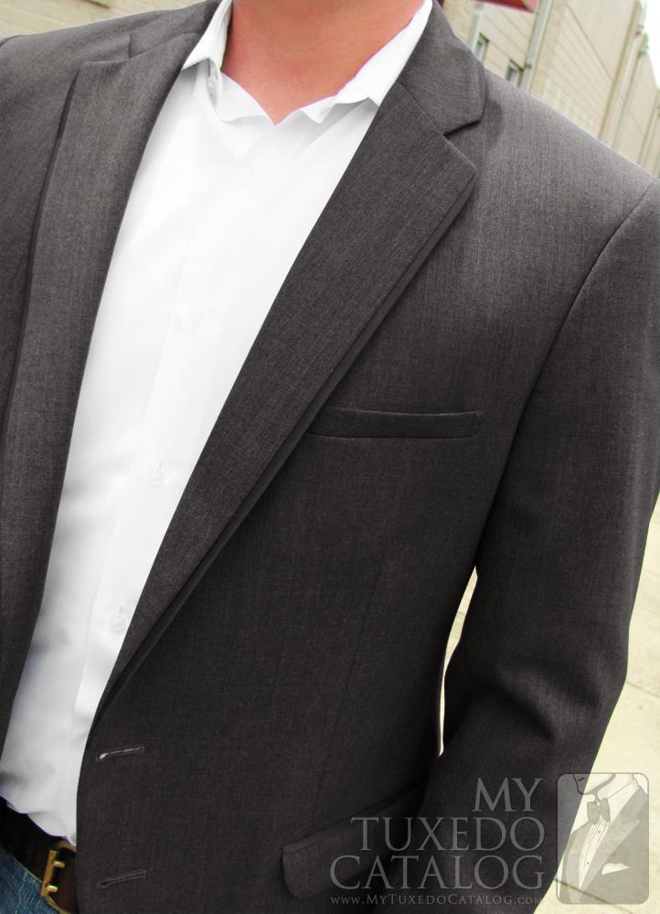 Steel Grey 'Allure Men' Tuxedo - Open Coat Informal