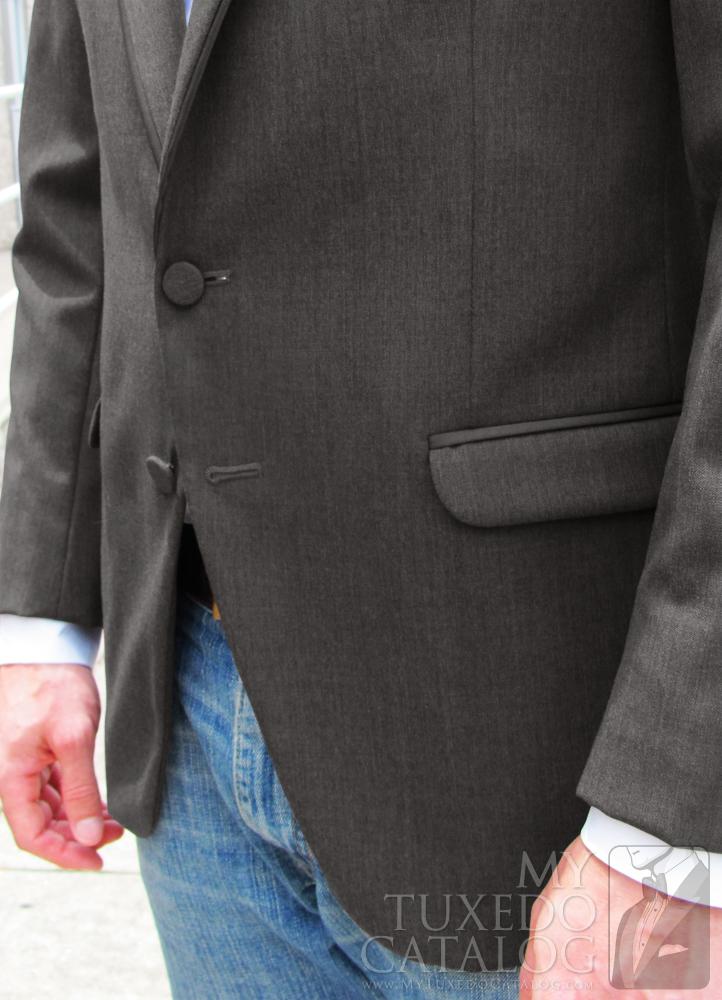 Steel Grey 'Allure Men' Tuxedo - Satin Trim Flap Pockets