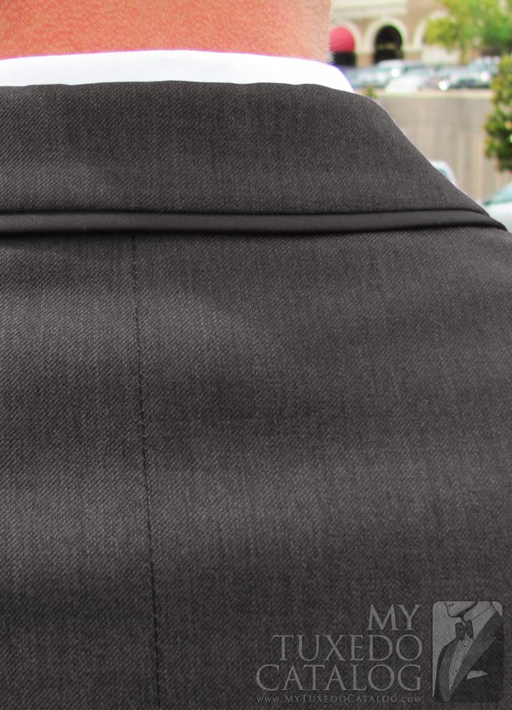 Steel Grey 'Allure Men' Tuxedo - Satin Trim Top Collar