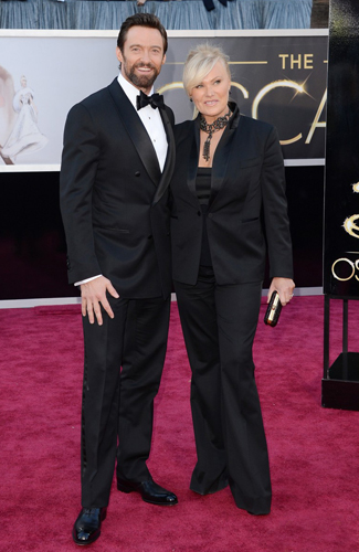 Hugh Jackman at the 2013 Oscars - Runner Up: Best Double Breasted Jacket