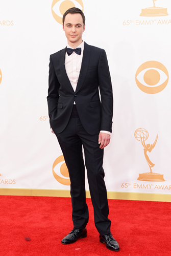Jim Parsons in a Perfectly Tailored One-Button Shawl Tuxedo