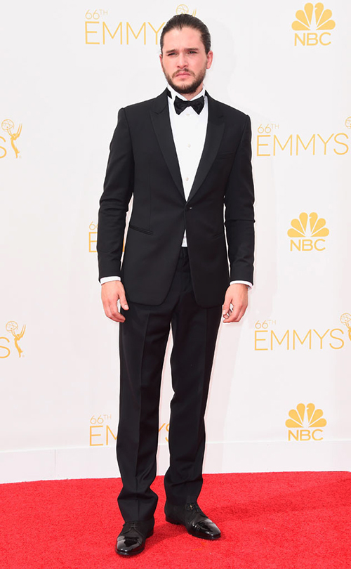 Kit Harrington in Black Tie at the 2014 Emmy Awards