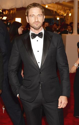 Gerard Butler in Black Tie at the 2013 Met Gala