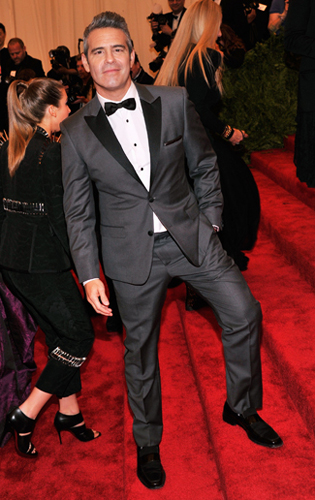 Andy Cohen in a Grey Tuxedo that's more Jazz than Punk at the 2013 Met Gala