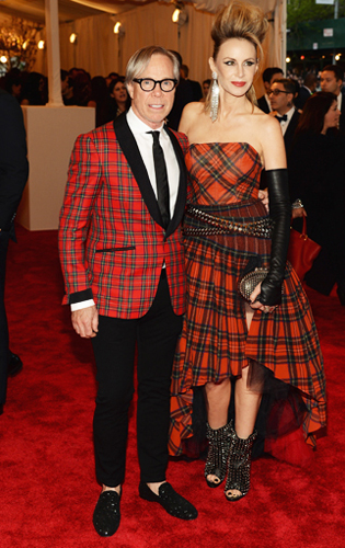 Tommy Hilfiger in a Red Plaid Dinner Jacket at the 2013 Met Gala