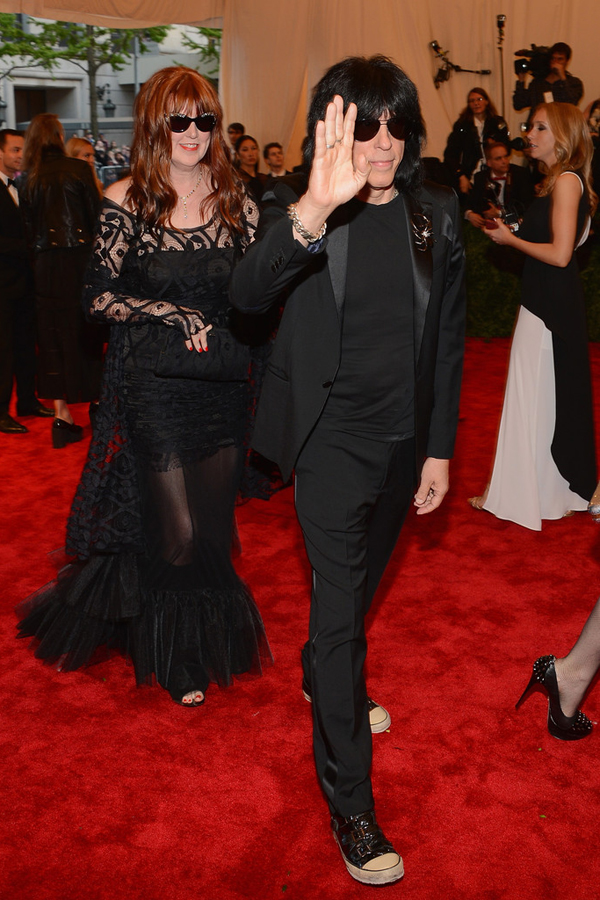 Marky Ramone in an All Black Tuxedo and our Pick for Winner of the 2013 Met Gala!