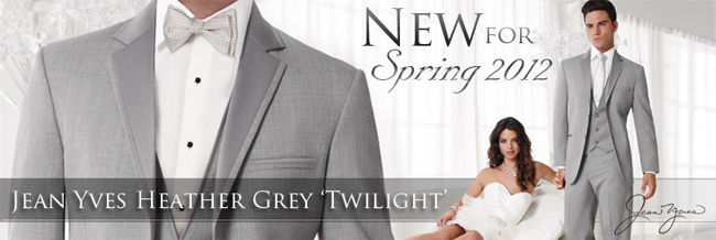 Jean Yves Heather Grey 'Twilight' Tuxedo: New for Spring 2012!