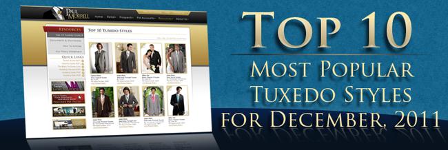 Top Ten Tuxedo Rental Styles for December 2011