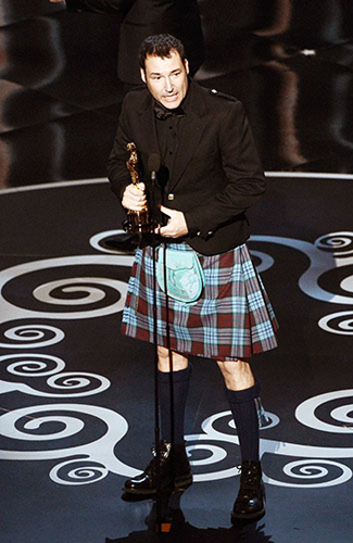 Mark Andrews at the 2013 Oscars - Winner: Best Kilt