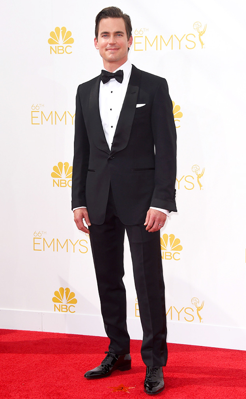 Matt Bomer in Black Tie at the 2014 Emmy Awards