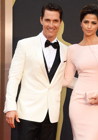 Matthew McConaughey in a White Dinner Jacket at the 2014 Oscars!